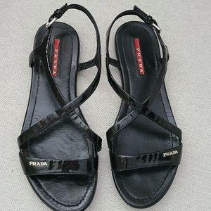 Patent Leather Prada Sandals - Size 37.5